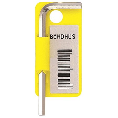 "Bondhus 16216 1/2"" Hex Tip Key L-Wrench with BriteGuard Finish, Tagged and Barcoded, Short Arm"