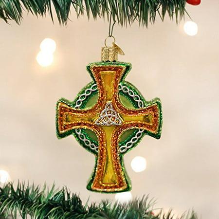 Old World Christmas Trinity Cross Glass Blown - Cross Christmas Ornaments