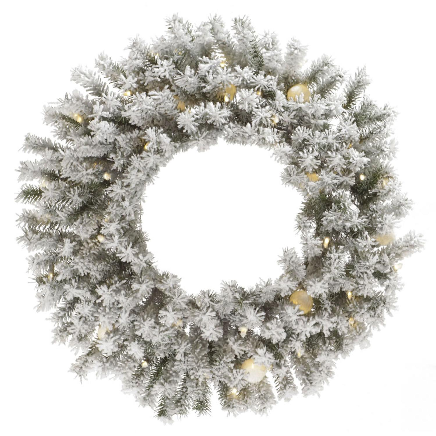 "30"" Pre-Lit London Fir Artificial Christmas Wreath - Warm Clear LED Lights"