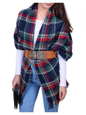 Product Image HDE Women s Oversized Tartan Scarf Long Wrap Checkered  Pashmina Shawl Plaid Blanket (Christmas Tartan). Product Variants Selector.  Beige Black 6d6b3c2a23db
