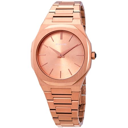 D1 Milano Ultra Thin Rose Gold Ladies Watch A-UTBL02