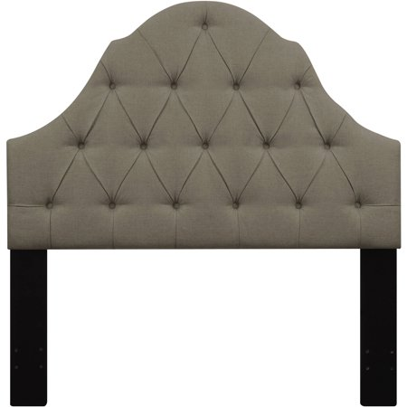 Shaped Camel Back Button Tufted Full / Queen Upholstered Headboard Taupe - Walmart.com