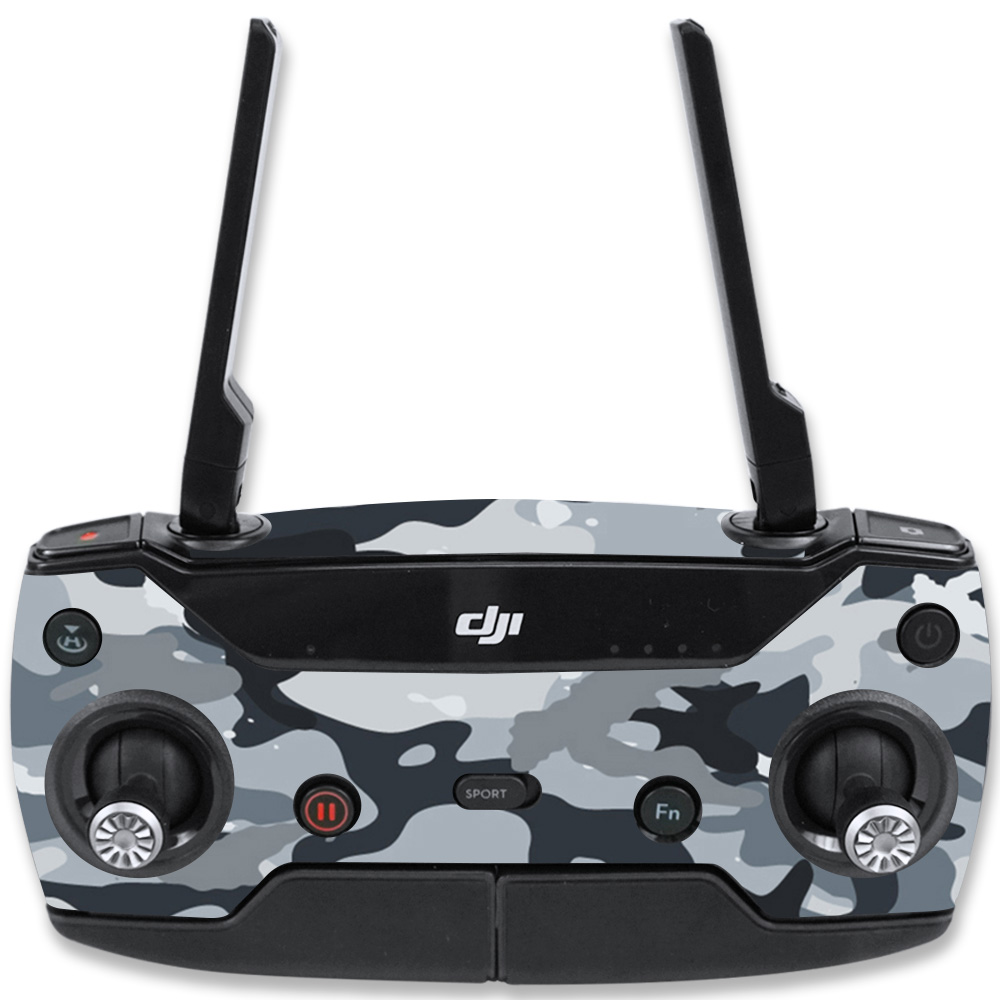 MightySkins Skin For DJI Spark Mini Drone Controller – Artic Camo   Protective, Durable, and Unique Vinyl Decal wrap cover   Easy To Apply, Remove, and Change Styles   Made in the USA
