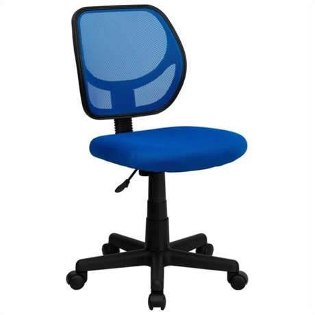 flash furniture mid back blue mesh task and computer office chair. Black Bedroom Furniture Sets. Home Design Ideas