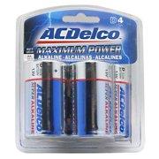 Powermax Maximum Power Battery Blister Card - 4 - D Batteries