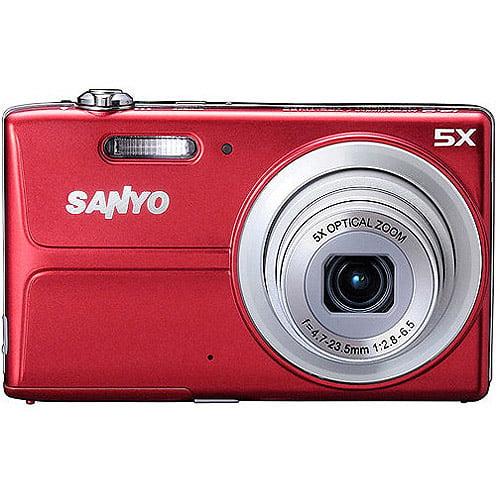 "Sanyo VPC-T1496R 14MP Digital Camera w/ 5x Optical Zoom, 3.0"" LCD Display"