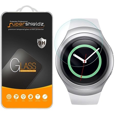 [1-Pack] Supershieldz for Samsung Gear S2 Tempered Glass Screen Protector, Anti-Scratch, Anti-Fingerprint, Bubble Free (S2 Samsung Screen)