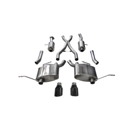 Corsa 15-16 Jeep Grand Cherokee Black 2.5in Dual Rear Exit Cat-Back Exhaust