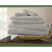 Egyptian Cotton 6-piece Solid Towel Set Black