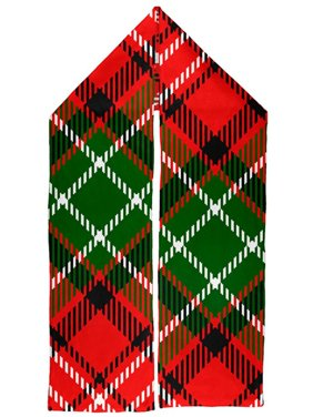 Christmas Red and Green Plaid Warm Fleece Scarf
