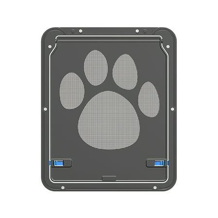 Pet Screen Door Magnetic Flap Screen Automatic Lockable Black Door for Small Cat Puppy - image 3 of 7