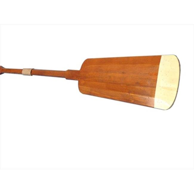 Handcrafted Model Ships Hamilton-Oar-62-Hooks Wooden Hamilton Squared Rowing Oar With Hooks 62 inch Decorative Accent by Handcrafted Model Ships