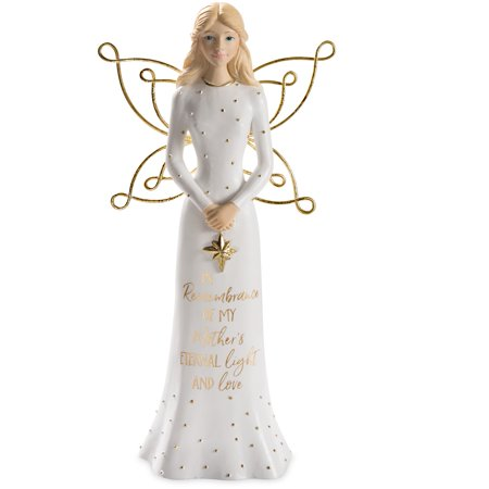 Angel Holding Star Figurine - Pavilion Gift Mother Angel Holding a Star Figurine 7.5 Inch 22205