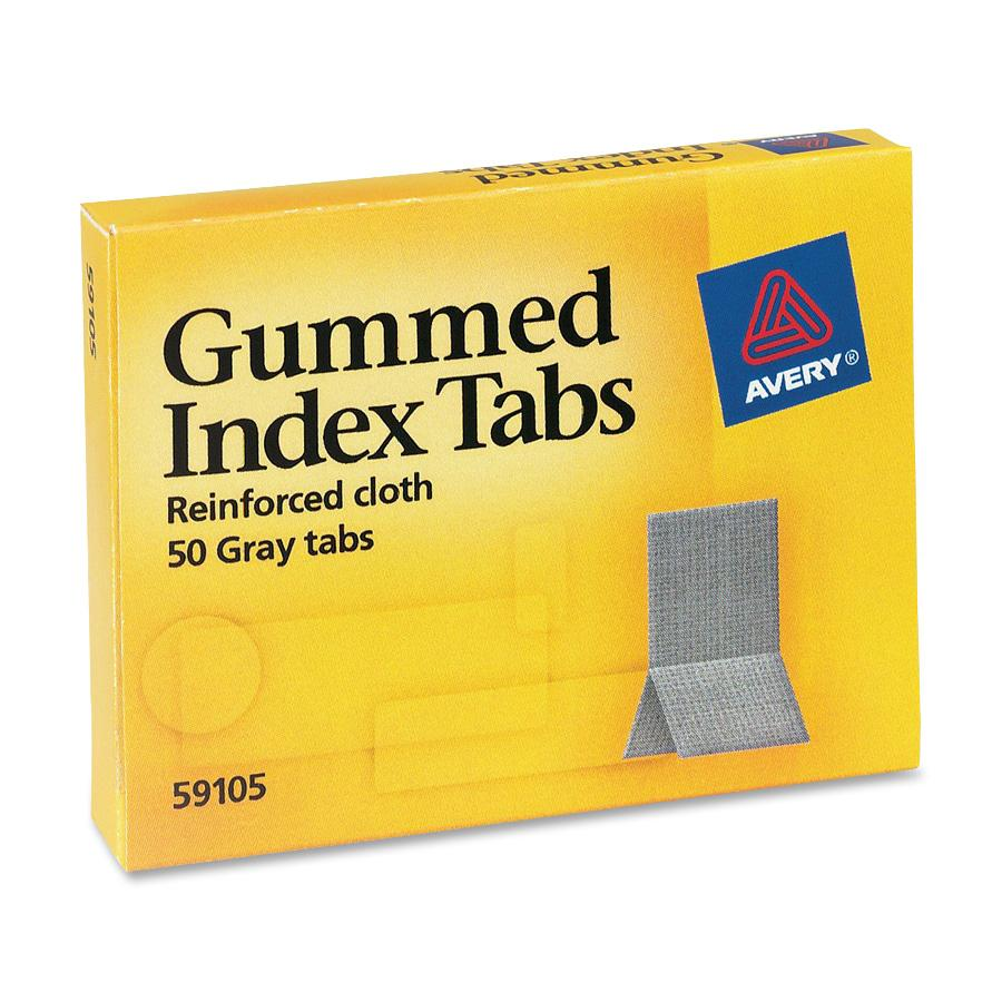 Avery Reinforced Cloth Gummed Index Tabs by Avery