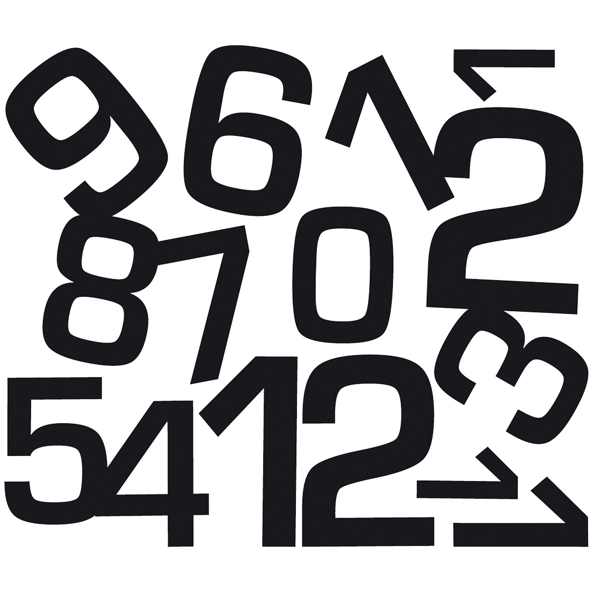 Contemporary Clock Peel-and-Stick Wall Decals