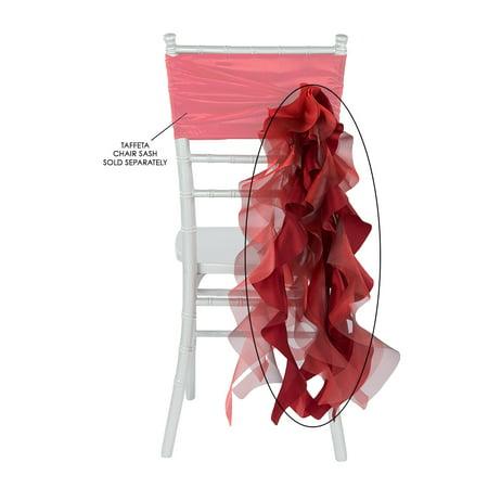 Curly Willow Chair Sash Material: Taffeta & Organza Approx. 29