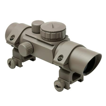Ncstar 1X30mm Tube Reflex Optic  30Mm  Four Reticles  Tan