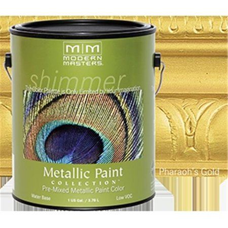 MODERN MASTERS ME660 1 Gallon Pharaohs Gold Metallic Paint - Semi Opaque