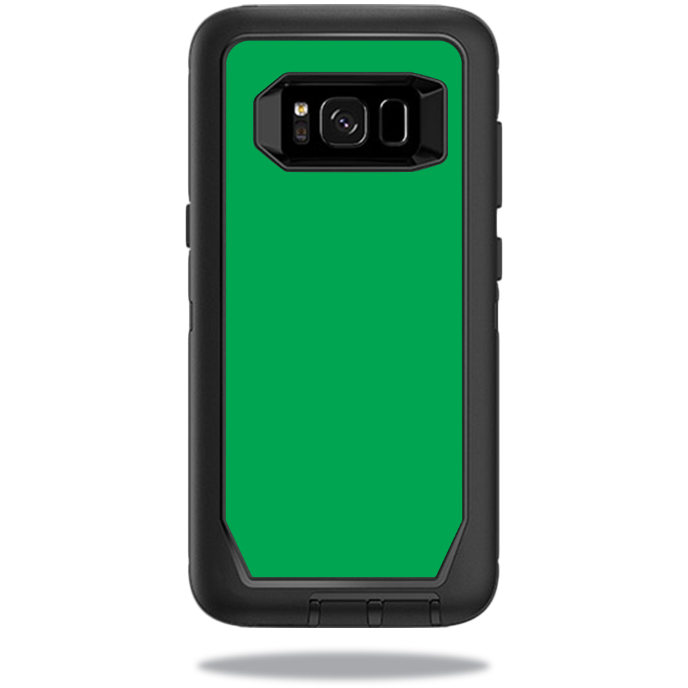MightySkins Protective Vinyl Skin Decal for OtterBox DefenderSamsung Galaxy S8 Case sticker wrap cover sticker skins Solid Green
