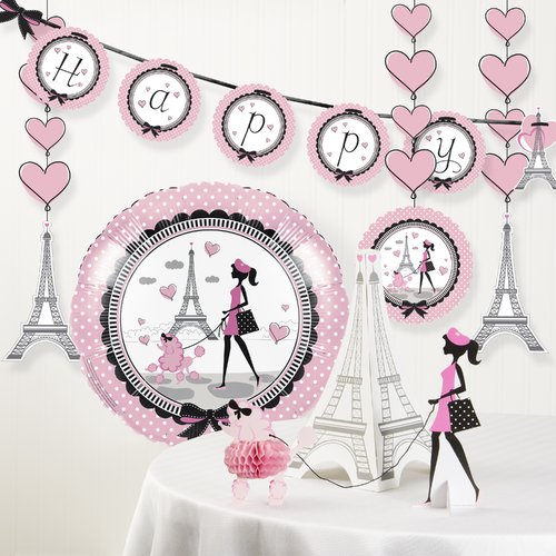 The Party Aisle Party in Paris Birthday Party Decoration Kit