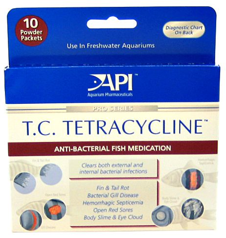 API Pro Series T.C. Tetracycline Anti-Bacterial Fish Medication Powder T.C. Tetracycline Powder - 5 Grams