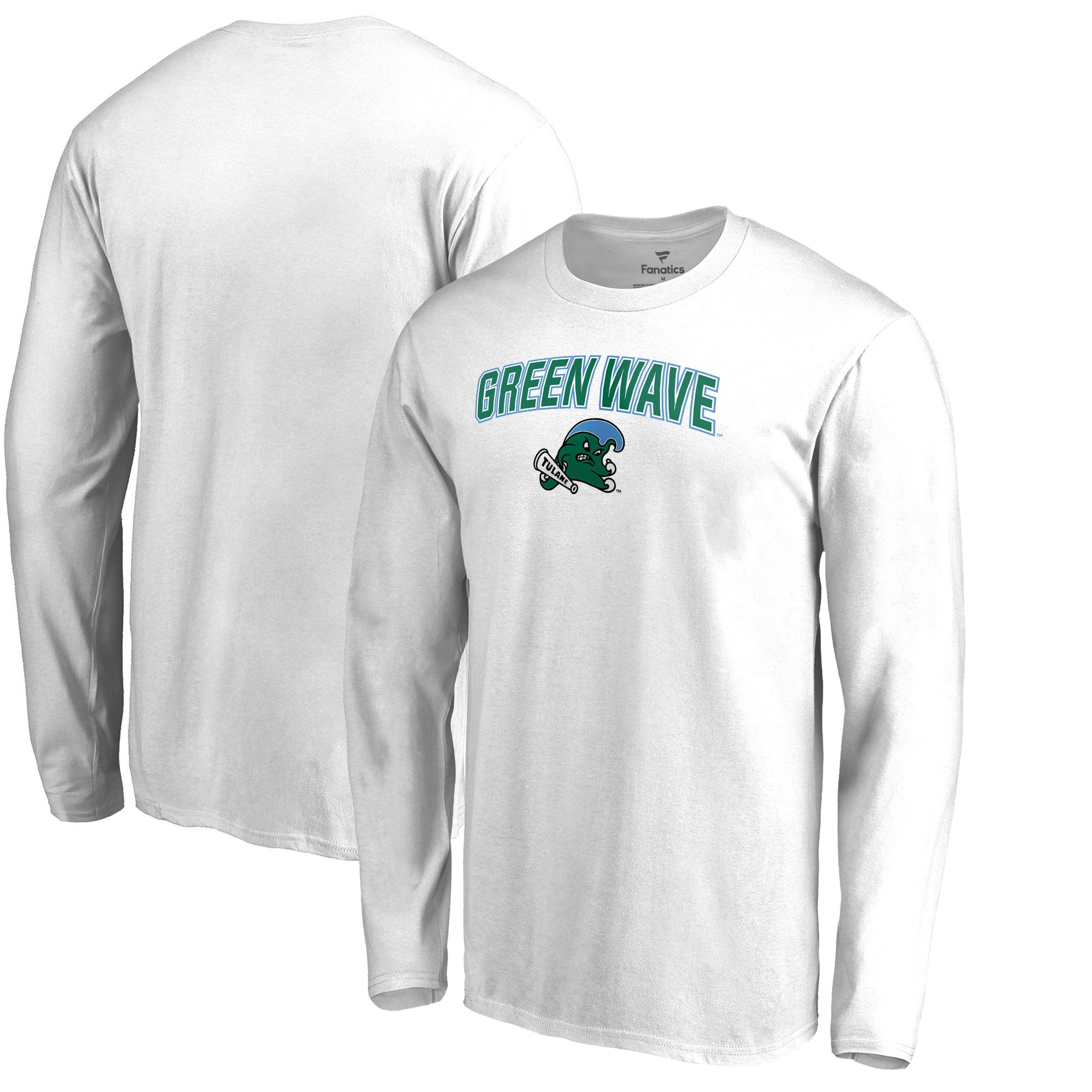 lowest price 9c4c3 1afb9 Tulane Green Wave Proud Mascot Long Sleeve T-Shirt - White - - Walmart.com