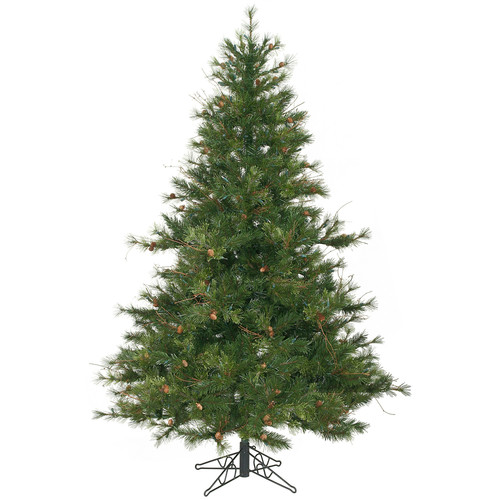 Vickerman Mixed Country Pine 6.5' Green Artificial Christmas Tree with Stand