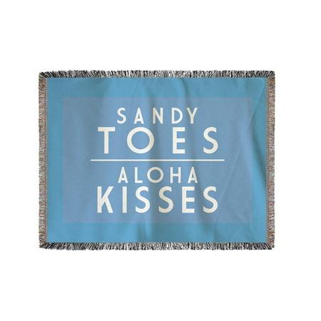 Sandy Toes, Aloha Kisses - Simply Said - Lantern Press Artwork (60x80 Woven Chenille Yarn Blanket)