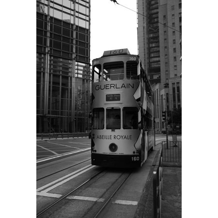 Canvas Print Bus Hong Kong Central Stretched Canvas 10 x 14 ()