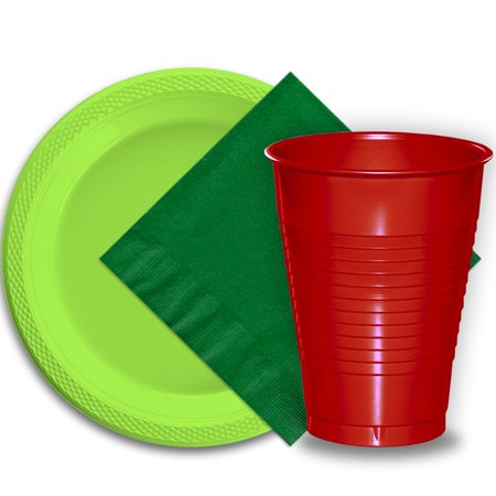 50 Lime Green Plastic Plates (9