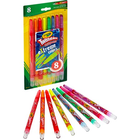 Crayola Xtreme Coloring Twistable Crayons, 8 Count