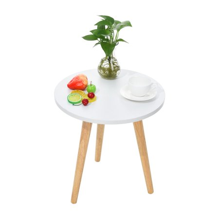 Tuscom Nordic Simple Style Modern Garden Shaped Coffee Table Trumpet 16 5 15 Inch White