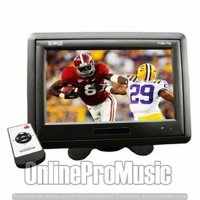"""Absolute PHM709G 7"""" TFT LCD Headrest Monitor With Shroud And Stand"""