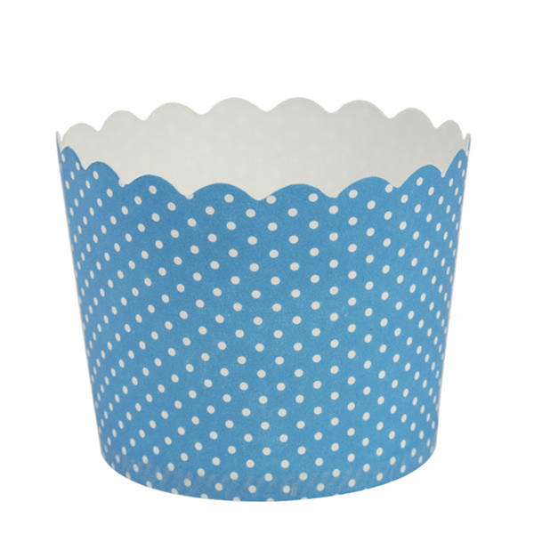 Simcha Collection Blue Polka Dots Cupcake Wrappers Large/Case of 384