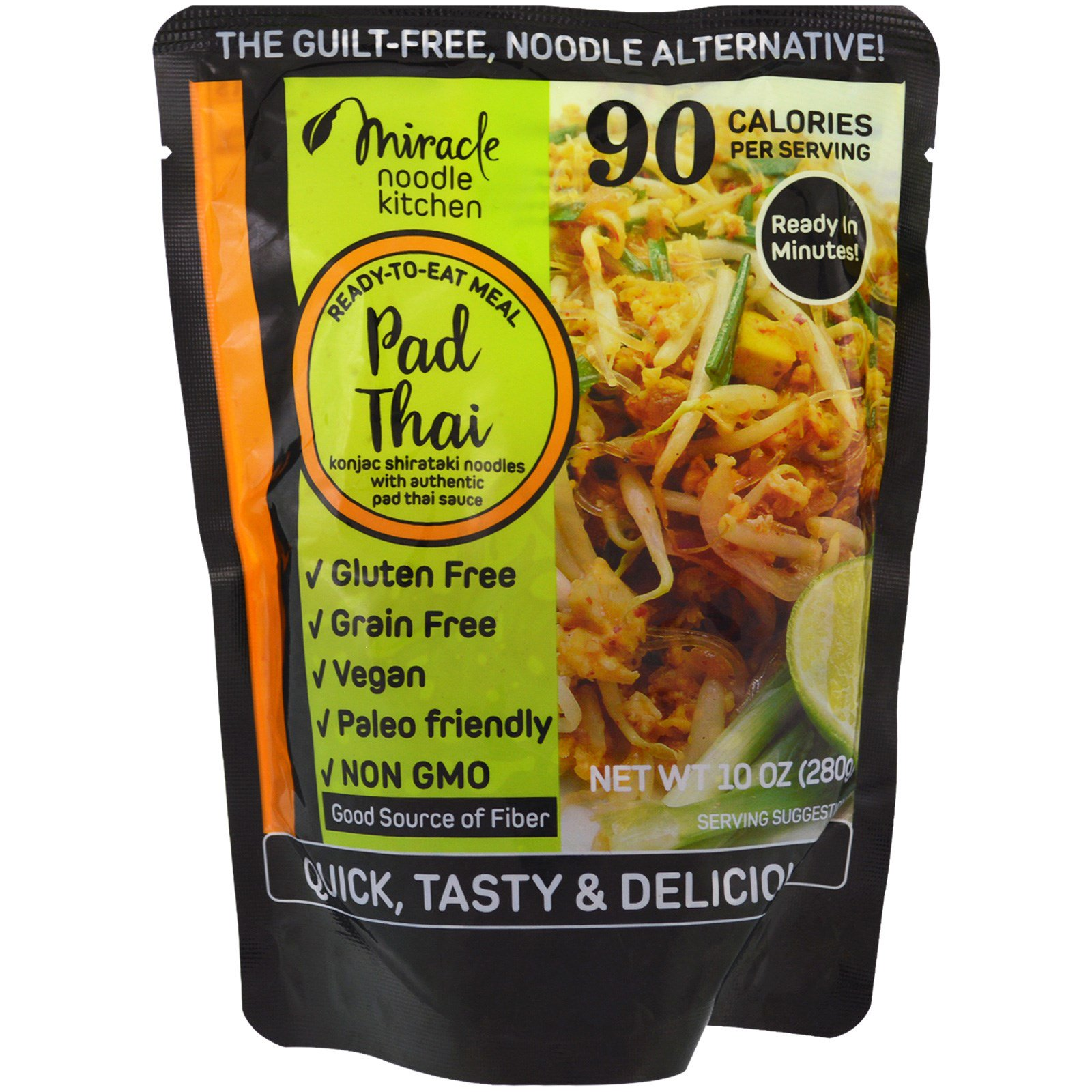 Miracle Noodle, Ready-to-Eat Meal, Pad Thai, 10 oz (pack ...