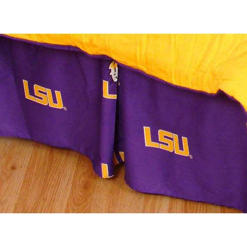 NCAA - LSU Tigers Printed Bedskirt- Queen Bed