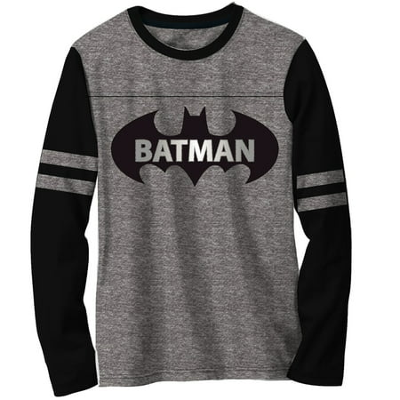 Gray Long Sleeve Shirt - Boys' Grey Long Sleeve Graphic Football Tee