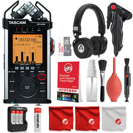 Tascam DR-44WL Portable Handheld Recorder and Deluxe Accessory