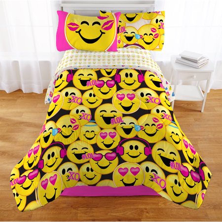 Emoji Nation 'Happy Happy' Twin Bedding Bed in a Bag - Ladybug Emoji