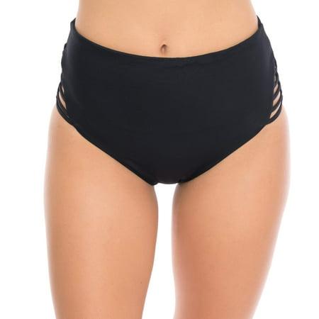 (Women's High-Waist Bikini Swimsuit Bottom)