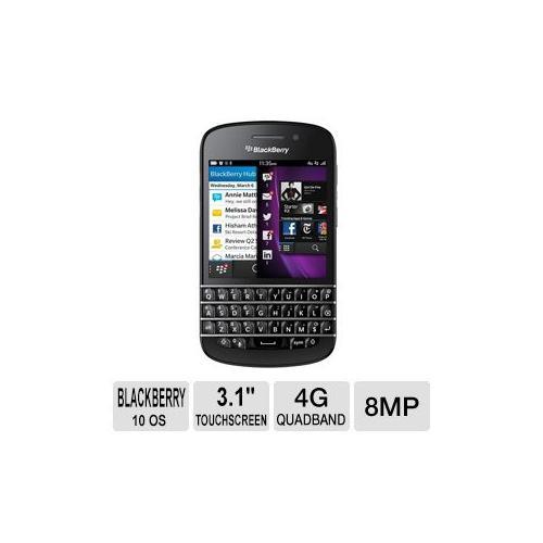 Celular BlackBerry Q10 SQN100-1 de 16GB desbloqueado GSM 4G LTE OS 10 teléfono celular - negro + BlackBerry en VeoyCompro.com.co