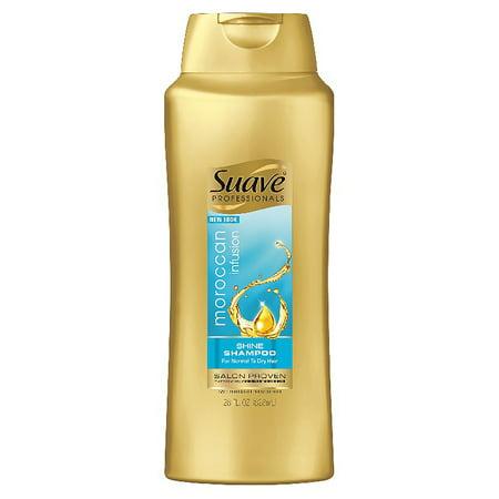 (2 pack) Suave Professionals Moroccan Infusion Shine Shampoo, 28 oz