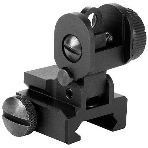 AIM Sports M4/AR-15/M162A Rear Flip-Up Sight with Dual Aperture