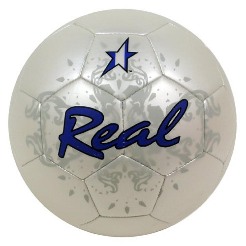 Baden Real Official Size 5 Anodized Metallic Soccer Ball by