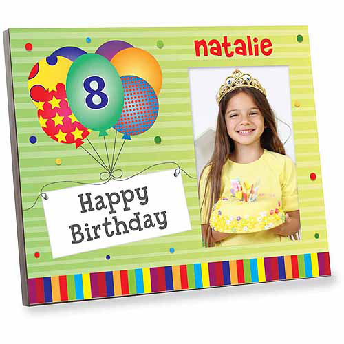 Personalized Green Happy Birthday Off Set Frame