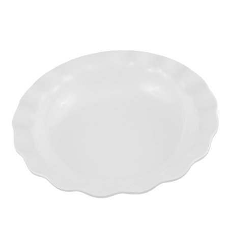 Unique Bargains Hotel Restaurant Plastic  Design Fruits Salad Dish Plate White 10