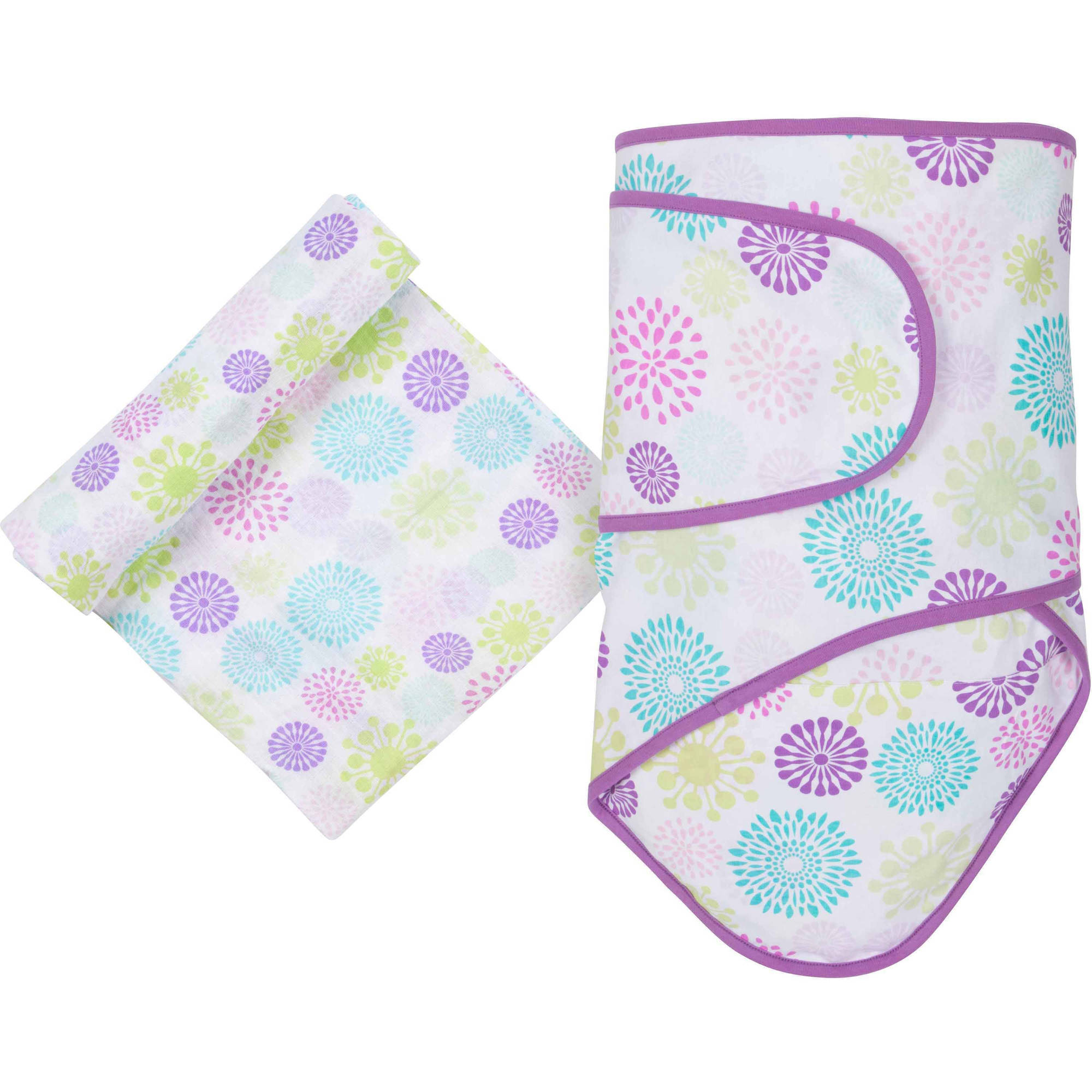 Miracle Blanket and MiracleWare Muslin Cotton Swaddle Set