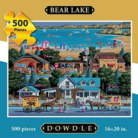 Dowdle Folk Art Bear Lake Puzzle - image 1 de 3