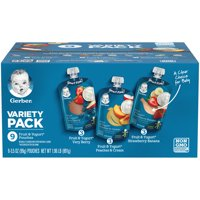 Gerber Very Berry, Peaches & Cream & Strawberry Banana Fruit & Yogurt Toddler Food Variety Pack 9-3.5 oz. Pouches