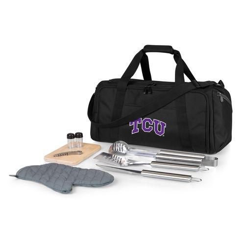 Black TCU Horned Frogs BBQ Kit Cooler